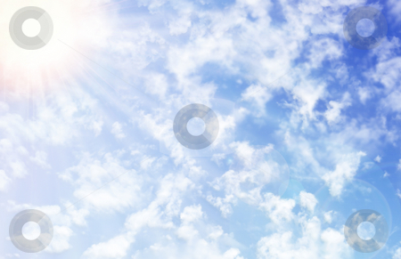 Perfect Sky stock photo, Stock image of cloudy sky with sunlight, can be used horizontally or vertically by iodrakon