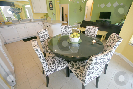 Breakfast Area stock photo, A Breakfast Area in a House in Florida. by Lucy Clark