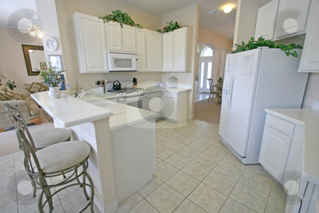 Kitchen stock photo, A Kitchen in a House in Florida. by Lucy Clark
