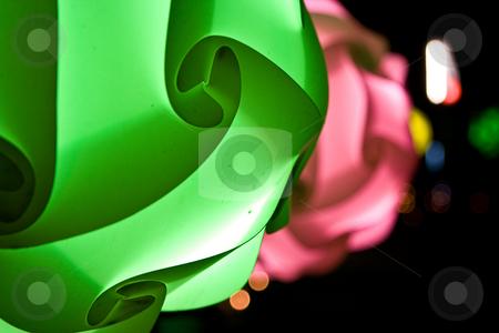 Night paper lantern stock photo, Night paper lantern on the Thailand beach by Dmitry Rostovtsev