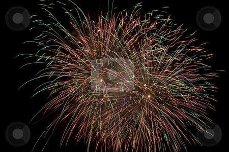 Firework flower stock photo, Multi colored firework flowers by Yann Poirier