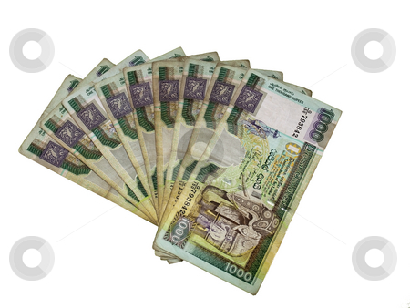 Sri lankan rupees stock photo, An arrangement of sri lankan rupees by Mike Smith