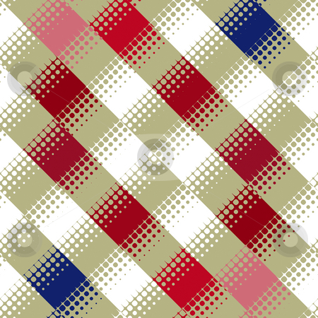 Blocks and dots pattern stock photo, Texture of diagonal squares with dots pattern by Wino Evertz
