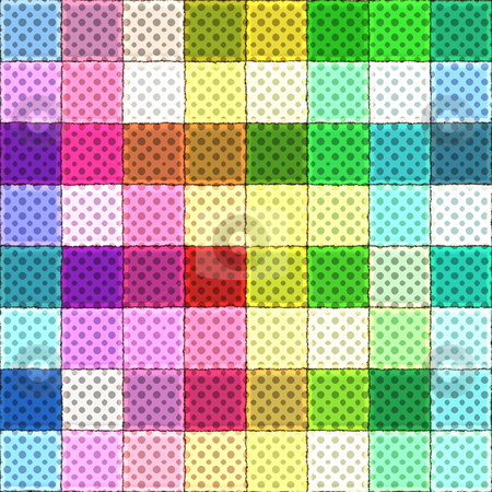 Colorful rag pattern stock photo, texture of many colorful bright square rags by Wino Evertz