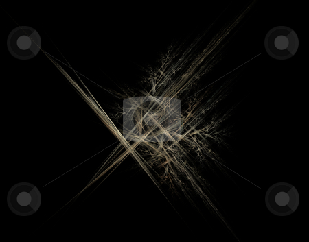 Jets stock photo, Abstract colorful lines on black background - illustration by J?