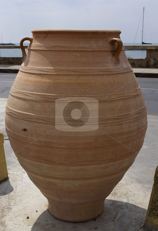 Clay pot stock photo, Big clay pot in ancient city by Desislava Dimitrova
