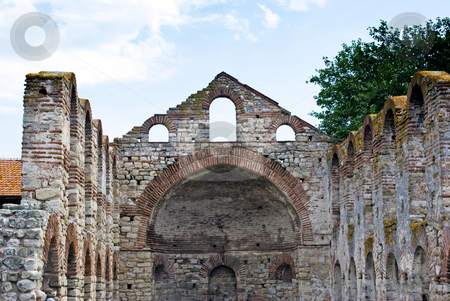 Nesebar stock photo, Castle ruins in old Nesebar Bulgaria by Desislava Dimitrova