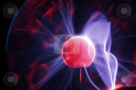 Electric Plasma Sphere stock photo, Electric Plasma Sphere by Chris Alleaume