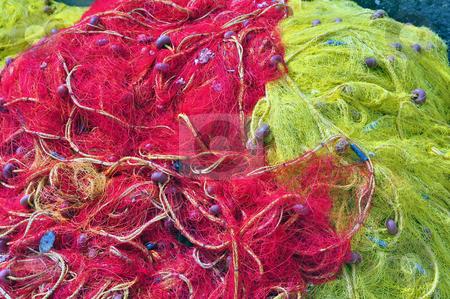Fishing nets stock photo, Travel photography: Fishing nets. Port of Heraklion, Crete, Greece by Fernando Barozza