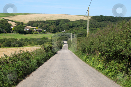 Narrow English country road in Cornwall, UK. stock photo, Narrow English country road in Cornwall, UK. by Stephen Rees