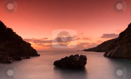 The bay at Kardamili stock photo, The bay at Kardamili, southern Greece, photographed after sunset by Andreas Karelias