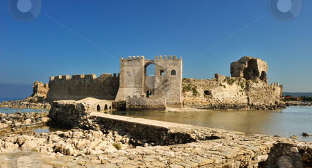 The castle at Methoni stock photo, Picture of the medieval fortress at Methoni, southern Greece by Andreas Karelias