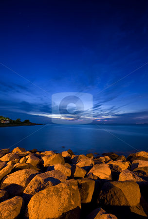 Mid Summer Night stock photo, Tranquil mid summer night on the Swedish coast by Corepics VOF