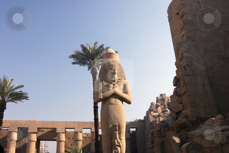 Colossus of Ramses II stock photo, The Colossus of Ramses II in Karnak Temple Egypt by Sharron Schiefelbein