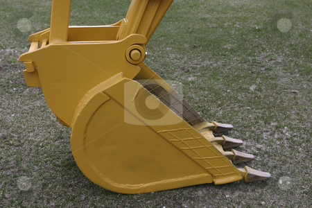 Digging Bucket for a Backhoe stock photo, Digging bucket for a 510C backhoe by Sharron Schiefelbein