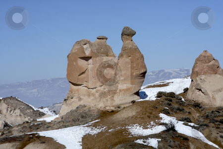 Camel rock in Turkey stock photo, This rock shaped like a camel in found in Capadocia Turkey by Sharron Schiefelbein