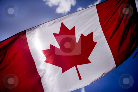 253 Tattered Canadian Flag stock photo, Canadian flag is tattered as Canadian troops by Sharron Schiefelbein