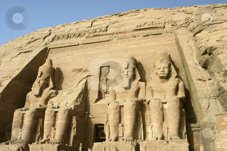 Abu Simbel stock photo, The Great Temple of Rameses II in Abu Simbel by Sharron Schiefelbein