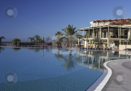 Resort in Side Turkey stock photo, A beautiful resort close to Side, Turkey by Sharron Schiefelbein