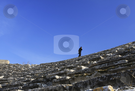 376 Guarding the Roman Ruins of Hierapolis  stock photo, The Roman ruins of Hierapolis  are found at Pamukkale Turkey by Sharron Schiefelbein