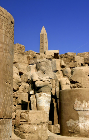 184 Karnak obelisk in Luxor Egypt stock photo, One of the obelisk in the Temple of Karnak in Luxor Egypt by Sharron Schiefelbein