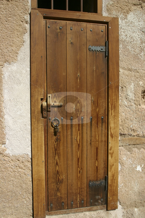 Door in St Catherine's Monastery stock photo, A very old door found in the St Catherine's Monastery by Sharron Schiefelbein