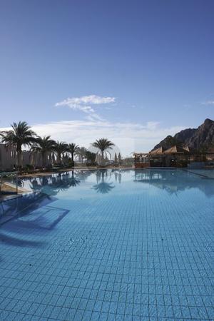 Resort pool in Dahab Egypt stock photo, Beautiful Resort swimming pool by Sharron Schiefelbein