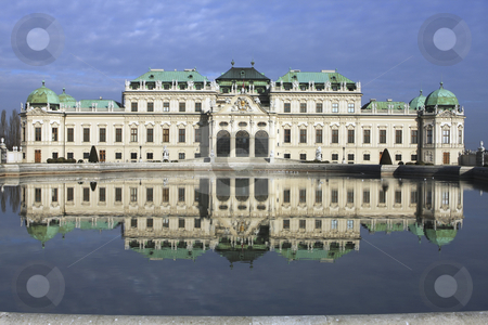 354 Belvedere Palace in Vienna Austria stock photo, Prince Eugen of Savoy commisioned this palace with his reward for his victories uring the Spanish Succession. by Sharron Schiefelbein