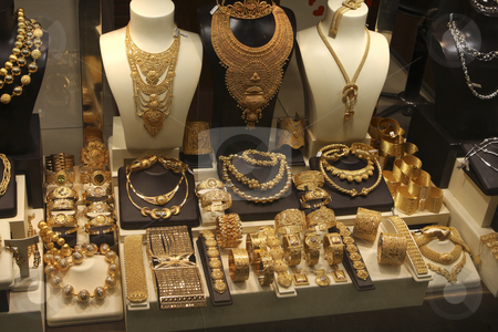 338 Gold and more gold stock photo, Have you ever seen so much Gold jewellery which is found in Turkey by Sharron Schiefelbein