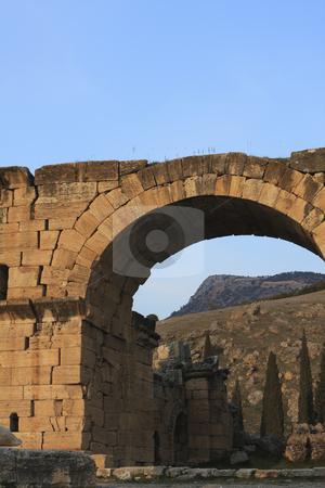 340 Roman Ruins of Hierapolis  stock photo, The Roman ruins of Hierapolis  are found at Pamukkale Turkey by Sharron Schiefelbein
