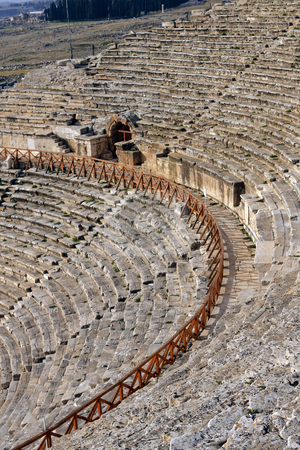 379 Roman Ruins of Hierapolis  stock photo, The Roman ruins of Hierapolis  are found at Pamukkale Turkey by Sharron Schiefelbein