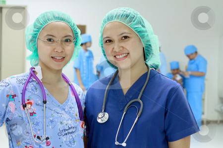 Asian nurses stock photo, Portrait of confident asian nurses by Claro Alindogan