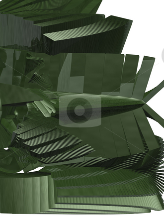 Abstract construction stock photo, Abstract green construction on white background - 3d illustration by J?