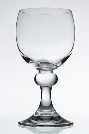 Wine Glass stock photo, Empty wine glass on white background by Yann Poirier