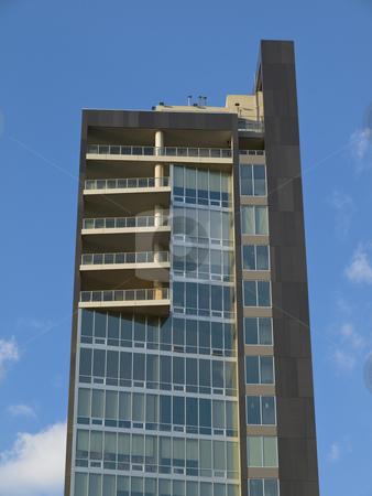 West side New York building stock photo, Modern west side loft building on blue sky background. by Ignacio Gonzalez Prado