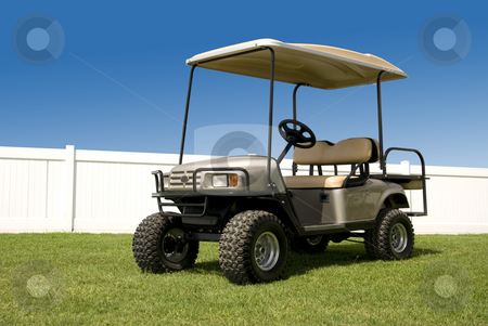 New Golf Cart stock photo, New golf cart ready to hit the course. by Charles Buegeler