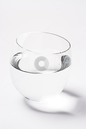 Bowl of water stock photo, Bowl of water on with background with shadow by Yann Poirier