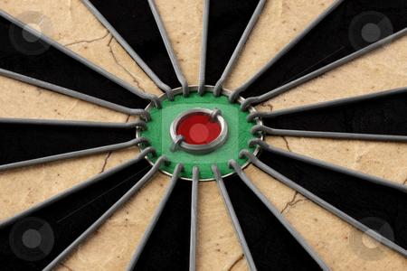Bullseye! stock photo, Closeup shot of dart board's bullseye by James Barber