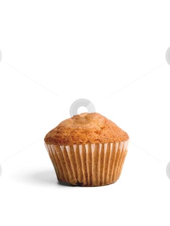 Muffin stock photo, A single muffin over white background. by Ignacio Gonzalez Prado