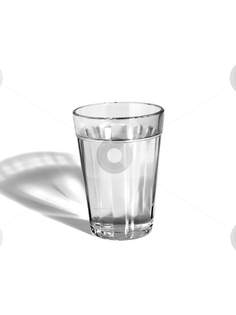 Glass of water stock photo, A glass of water on white background. by Ignacio Gonzalez Prado