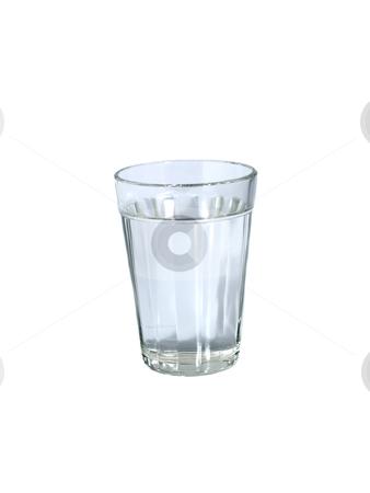 Glass of water stock photo, A glass of water on white background. by Ignacio Gonzalez Prado