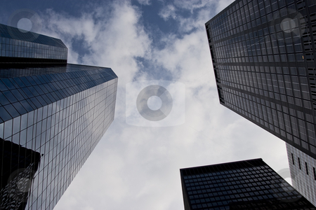 Reaching of the sky stock photo, Sky craper, old and new, reaching for the sky by Yann Poirier