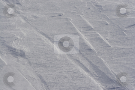 Snow drift stock photo, Close up view of a snow dune by Yann Poirier