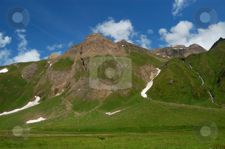 Summer High Mountain peaks stock photo, Summer High Mountain peaks (Alpe Bettelmat, Italy) by ALESSANDRO TERMIGNONE