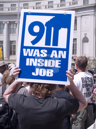 9-11 was an inside job stock photo, Protesters at the DNC by Cora Reed