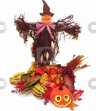 Holliday center piece stock photo, Fall themed halloween centerpiece by Cora Reed