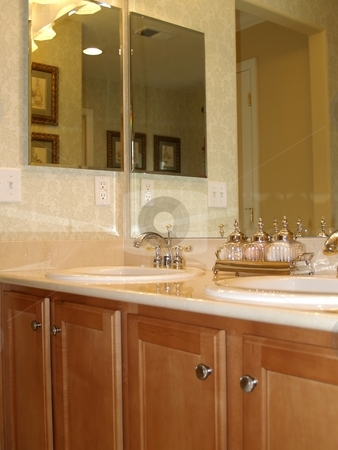 Vanity stock photo, Master vanity with two sinks by Cora Reed
