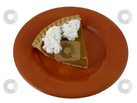 Pumpkin pie stock photo, Slice of pumpkin pie by Harris Shiffman