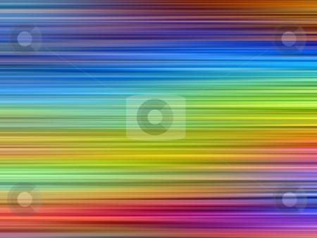 Bright rainbow colors abstract horizontal lines blur background. stock photo, Bright rainbow colors abstract horizontal lines blur background. by Stephen Rees