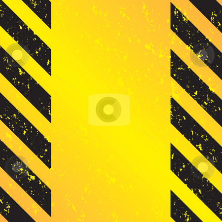 Hazard Stripes stock photo, A grungy and worn hazard stripes texture in yellow and black. by Todd Arena